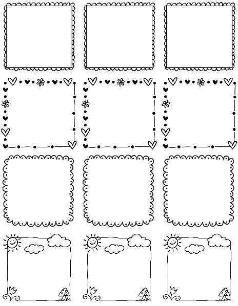 Printable Doodle Borders Labels by InkTreePress | Worldlabel Blog