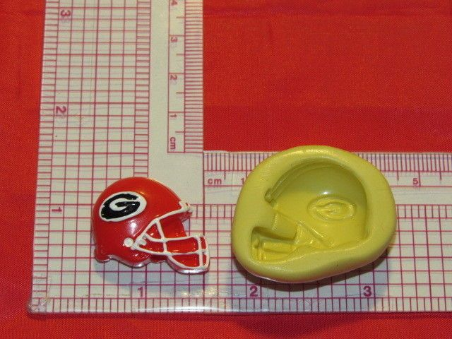 NFL Football Georgia Bulldogs Helmet Silicone Push Mold 329 Chocolate Candy Cake #LobsterTailMolds