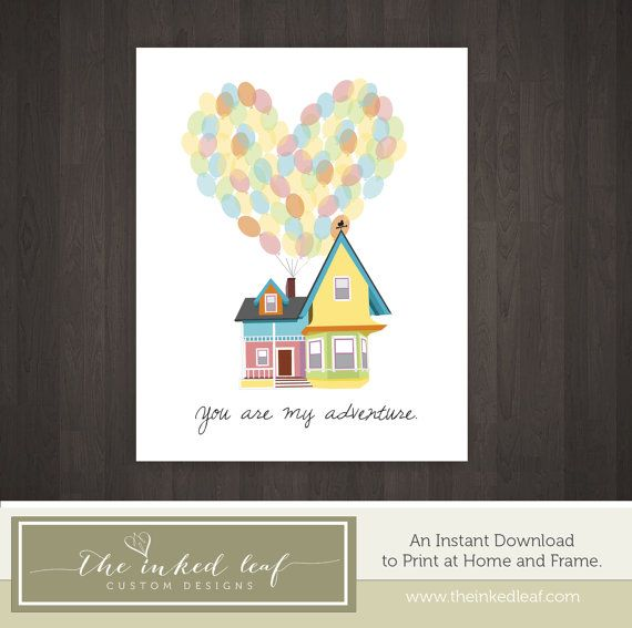 Home Decor Inspired By Disney Pixar Movie Up Carl And Ellie 39 S House W Balloons You Are My