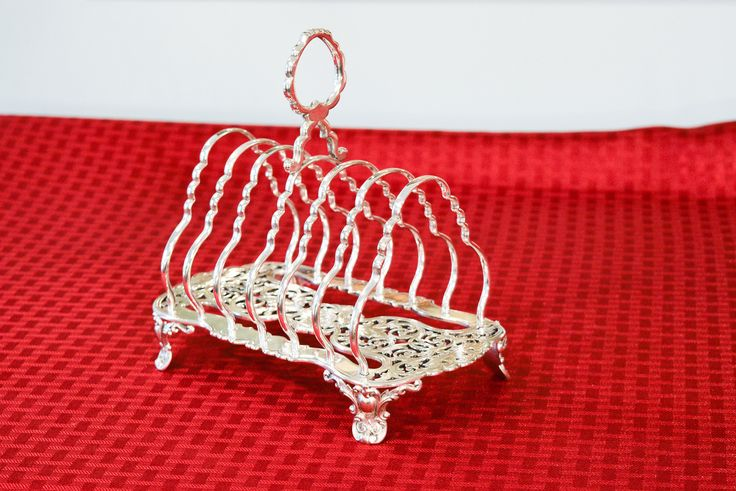 Antique Elkington Silver Plate Toast Rack - 1879 English Silver Plate Toast Rack - Fretwork Toast Rack - Toast Rack with Pierced Silver Base by PearlsParlor on Etsy https://www.etsy.com/listing/542588912/antique-elkington-silver-plate-toast