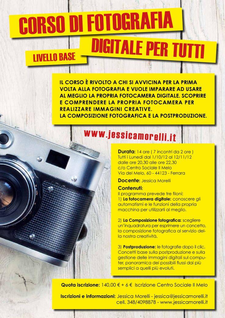 Corso di Fotografia digitale per tutti – Livello Base