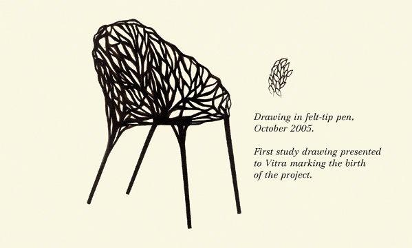 Very nice video and drawings of the process of designing the Vegetal Chair by Ronan & Erwan Bouroullec