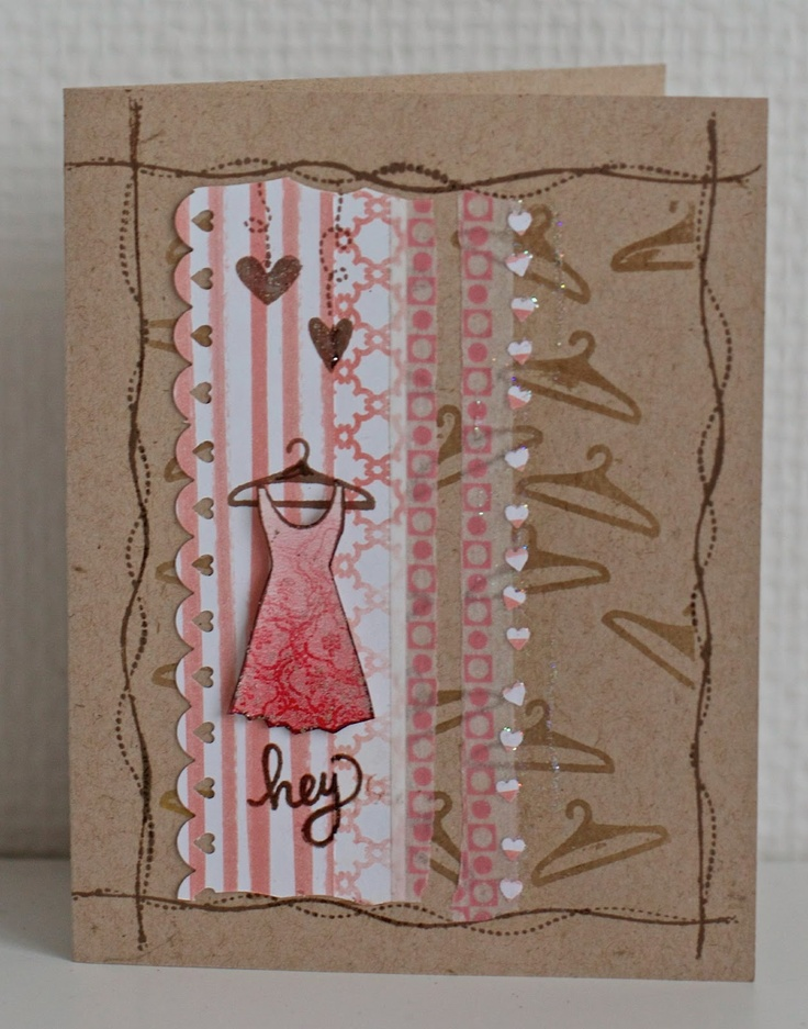 #February 2013 pink umbrella: Hey - Simon Says Stamp Card Kit of the Month