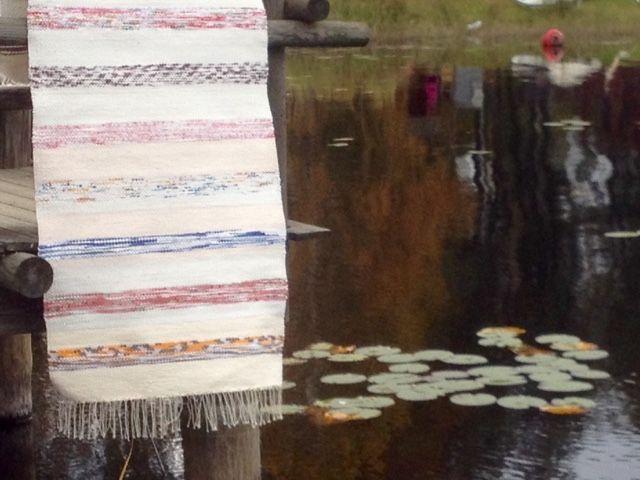 Liljan Lumo: Autumn comes -rag rug designed and knitted by Tiina Lilja/ Liljan Lumo