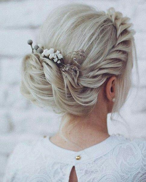 Wedding updo braid