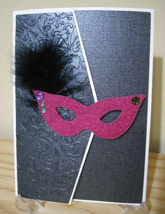 Handmade Custom DIY Masquerade Ball Theme Invitation Kit ...