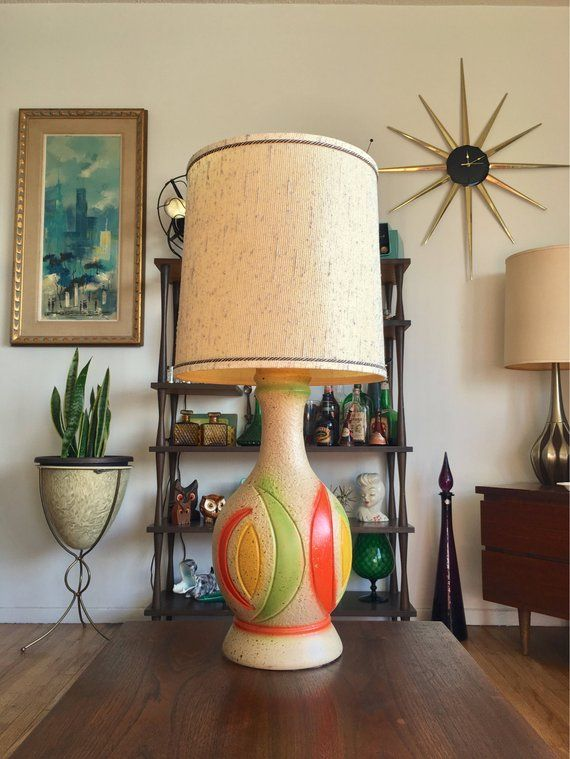 Mid Century Modern 1960s Tropicana Colorful Banana Lamp