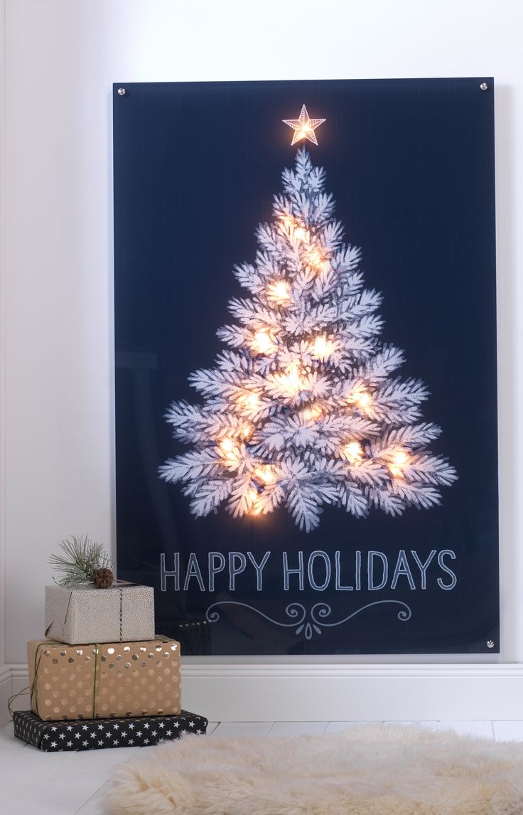 Unique DIY Tutorial Eine echte Alternative zum Weihnachtsbaum u Acrylglas Wandbild mit Leuchteffekt