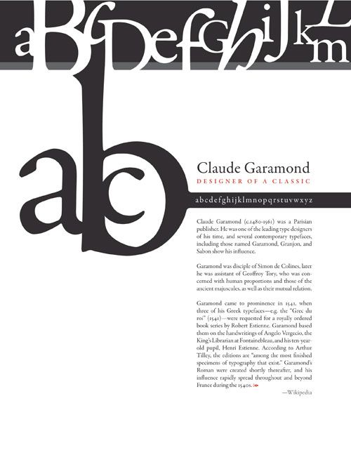 35 best images about Garamond on Pinterest  Behance
