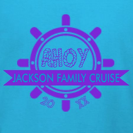 Family Cruise Ahoy family vacation t-shirt template. Identify your shipmates with this design inspiration. Edit and customize in our custom t-shirt design studio. Order and wear with free 10-day shipping in the U.S.