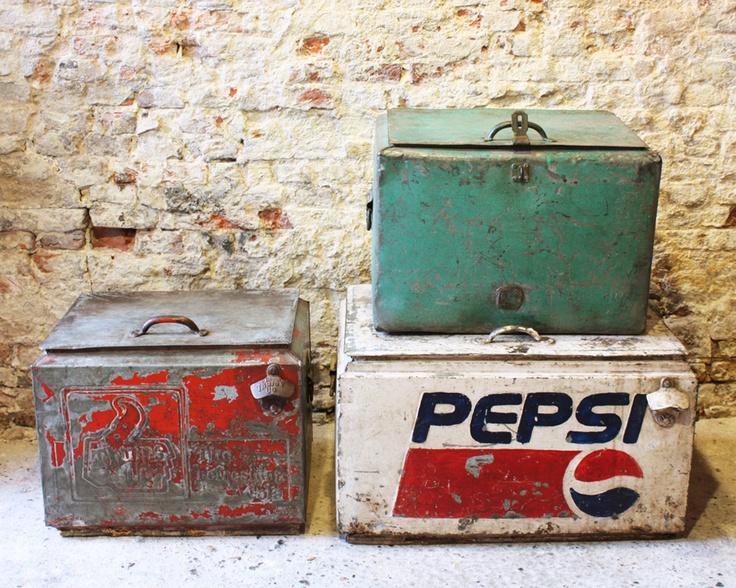 oude koelboxen, gaaf om te hebben!