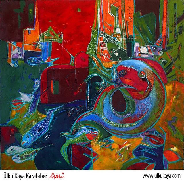 Fish 008 by Ülkü Kaya Karabiber  UlkuKaya.com