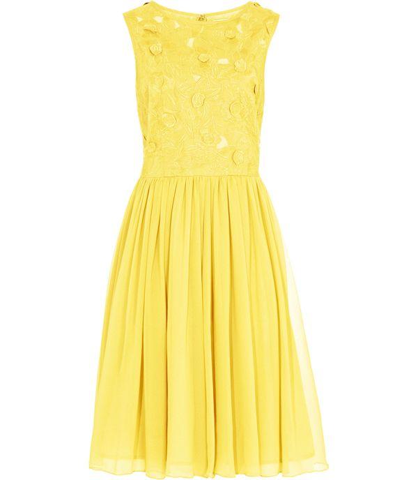 yellow country rustic bridesmaid dress