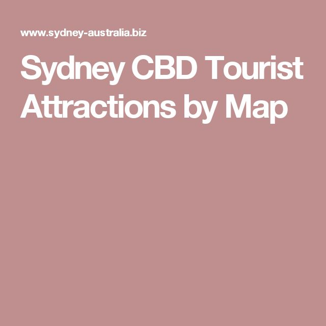 Sydney CBD Tourist Attractions by Map