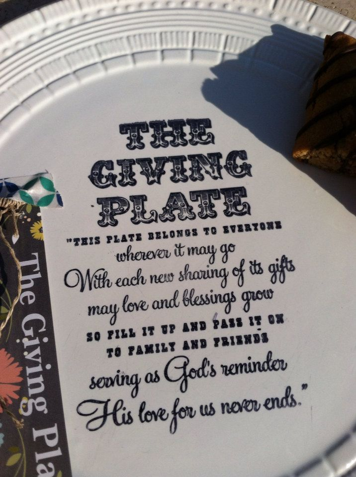 The giving plate christian inspirational gift by WeatheredRaindrop, $12.00