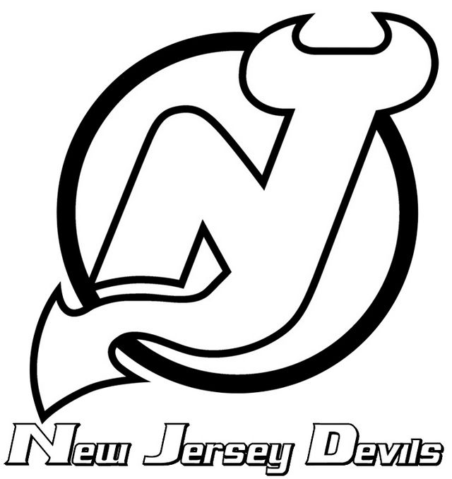 Pin By Yanni On See The Able Not The Label Sports Coloring Pages, New  Jersey Devils, Coloring Pages Inspirational