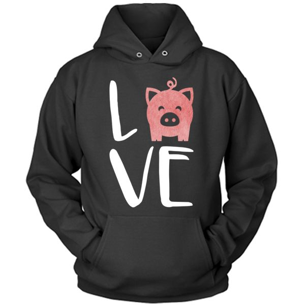 *I have this hoodie - a gift from my mom -- Love Pigs Hoodie
