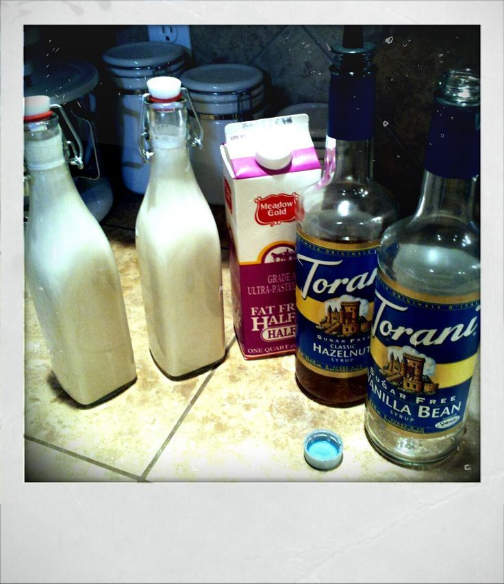 Homemade sugar free fat free coffee creamer. Just mix fat free half and half with any flavor (or flavors) sugar free syrup! … | Sugar Free Coffee Syrup in ...