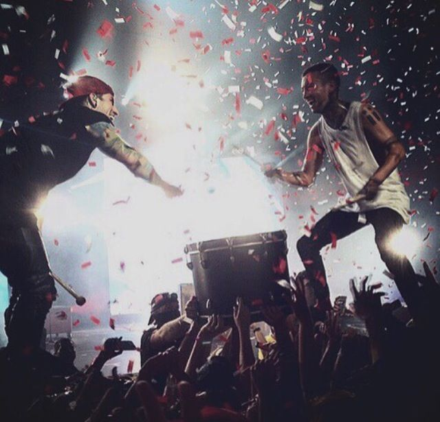Twenty One Pilots . I GOT THE CHANCE TO SEE THEM AND I HIGHLY RECOMMEND IT!! GOD I LOVED THEM