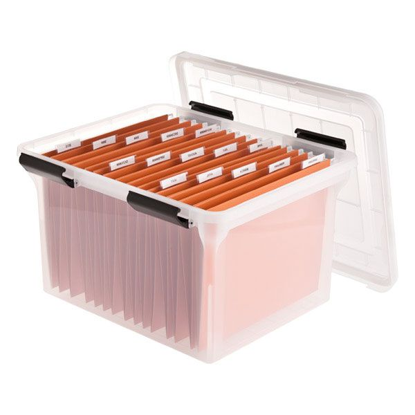 "Watertight File Box Translucent 17.75"" x 14.5"" x 11"""