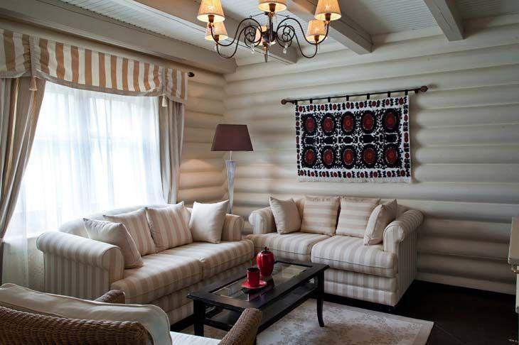Варианты окраски бревенчатого дома внутри фото