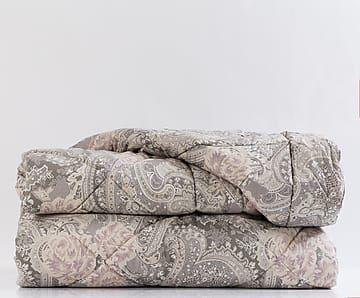 Trapunta singola cotone percalle Versailles cioccolato - 180x260 cm