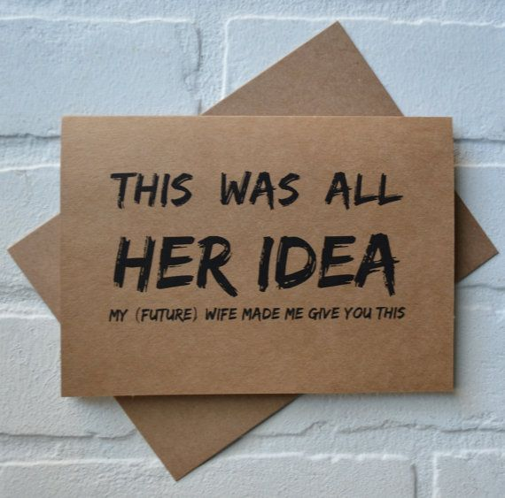 This and That Creations: Will you be my Groomsman Cards ~ This was all her ...