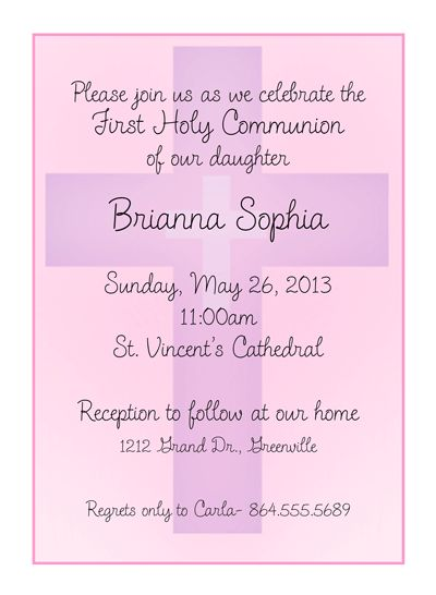 71 best images about First Communions – Communion Party Invitations