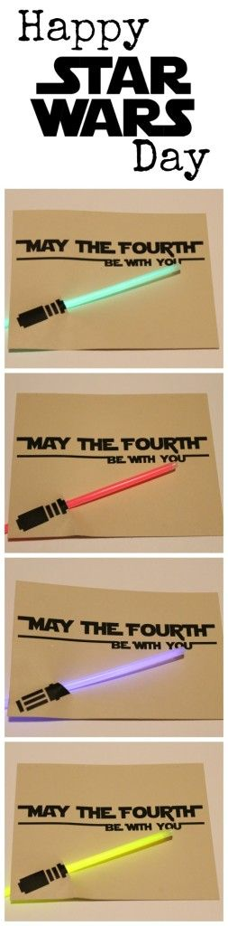 """""""May the Fourth be with You"""" FREE printable card"""