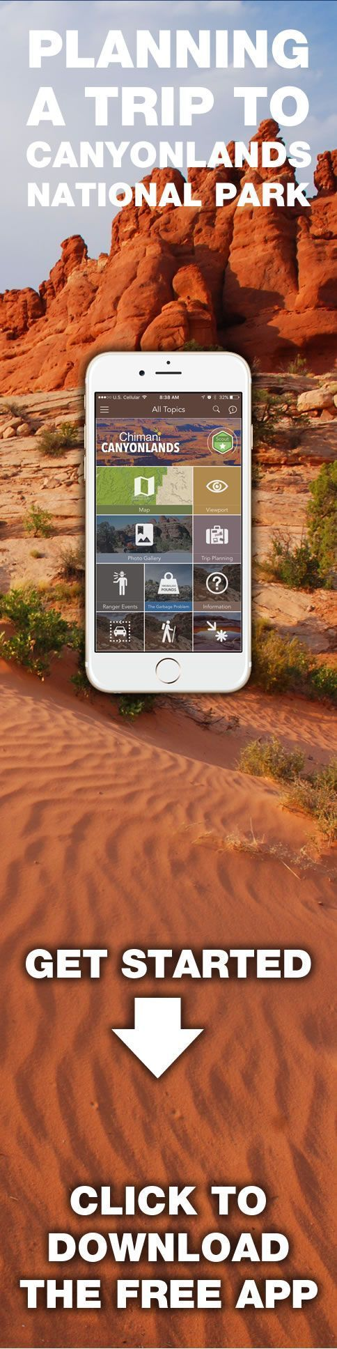 Are you planning a trip to Canyonlands National Park? Take Chimani with you! www.chimani.com/#canyonlands We develop 100% free mobile app travel guides for national parks and other outdoor destinations. No cell connection required! Download our apps for iOS and Android at www.chimani.com or in the App Store or on Google Play #TravelDestinationsUsaAndroid #TravelDestinationsUsaGooglePlay