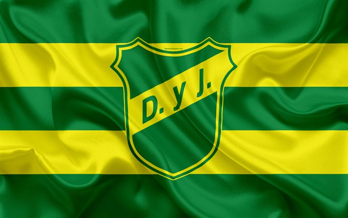 Download wallpapers Defensa y Justicia, 4k, Argentine Football Club, emblem, logo, First Division, Superliga Argentina, Argentina Football Championships, football, Florencio Varela, Argentina, silk texture, Club Social y Deportivo