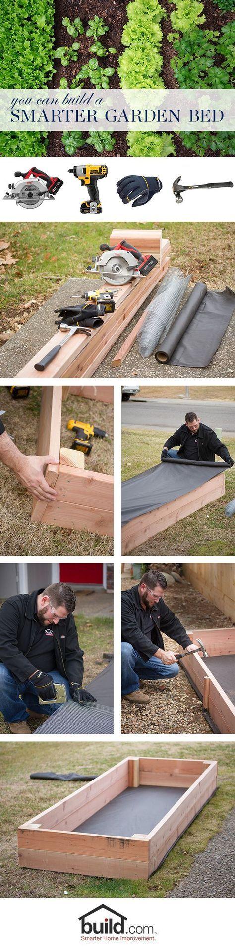 Learn how to build a smarter raised garden bed (no weeds, no pests) for your spring garden. #smarterhomeimprovement
