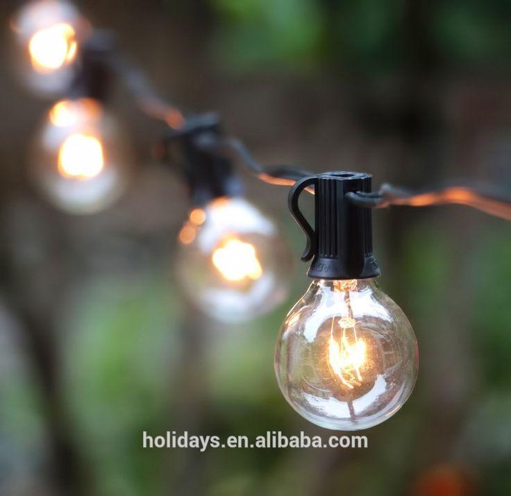 Zwarte draad duidelijke wereldbol lichtslingers set van 25 indoor gloeilampen g40/outdoor-vakantie verlichting-product-ID:60308644083-dutch.alibaba.com
