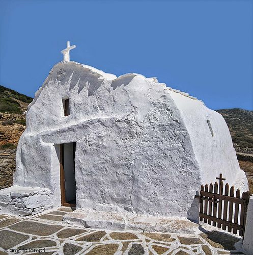 Small church in Amorgos - Greece