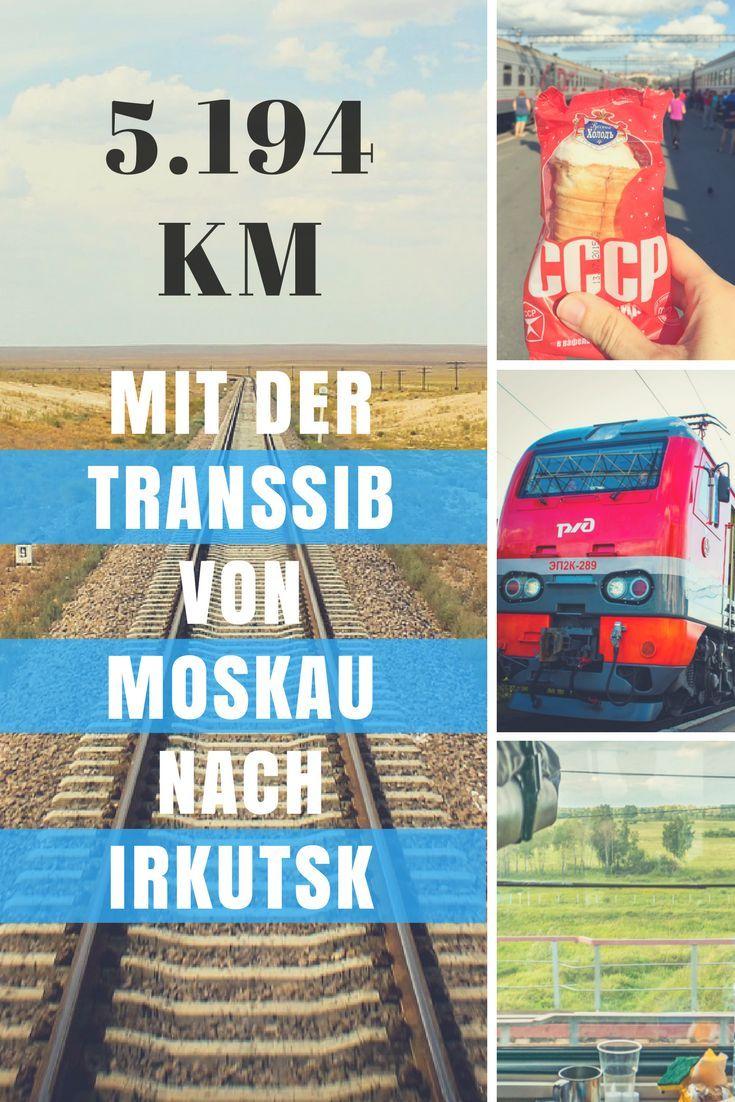 5.194 km: Mit der Transsibirischen Eisenbahn von Moskau nach Irkutsk. Unsere Erfahrungen und Erlebnisse auf der Reise mit der Transsibirischen Eisenbahn quer durch Russland von Moskau nach Irkutsk binnen 3 Tagen und 16 Stunden.