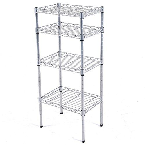 js home 4 tier kitchen storage rack wire shelving unit chrome rh pinterest com