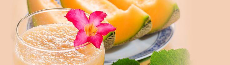 Jus de cantaloup, de menthe et de mangue