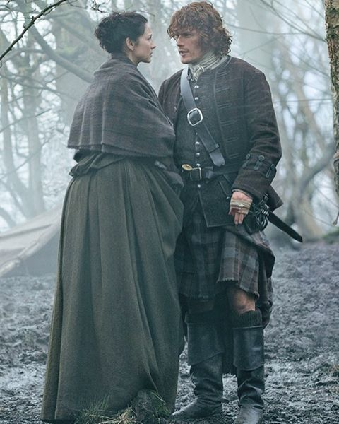 Jamie & Claire in Outlander Season 2 Finale - Dragonfly in Amber.