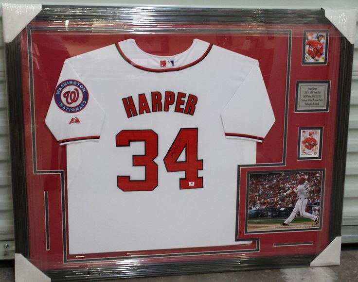 ... BryceHarper of the WashingtonNationals framed jersey. FramedJersey  JerseyFraming 1605af0d4