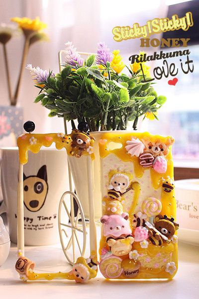 Honey Honey Rilakkuma - iphone 5 case samsung galaxy 4 note 3 phone cover