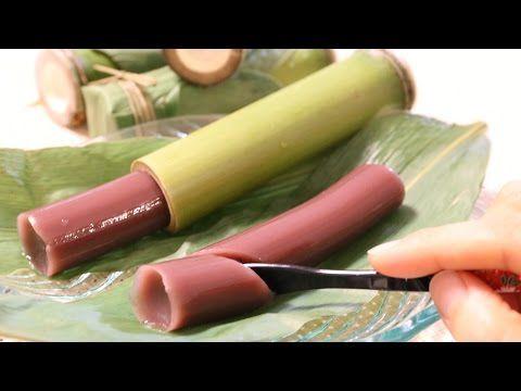 ▶ How to make Wagashi Bamboo Tube Mizu-Yōkan ~和菓子 竹筒水ようかん 作り方 - YouTube