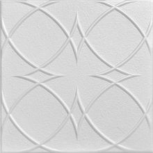 """Loving the glue up tiles- easy way to cover the pop corn! Circles and Stars - Styrofoam Ceiling Tile - 20""""x20"""" - #R82"""