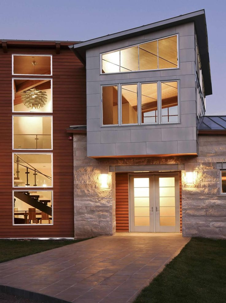 Best Exterior Stone Examples Homes Images On Pinterest - Modern exterior house design with stone