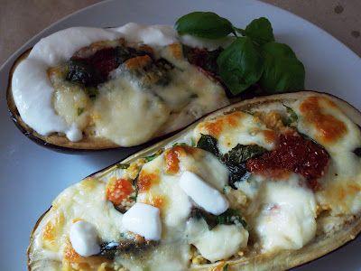 Cookieszonki: Bakłażan zapiekany z kaszą kuskus i mozzarellą
