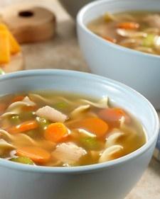 Martha Stewart...turkey noodle soup