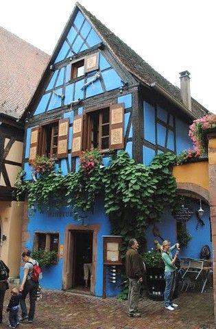 Maison bleue de Riquewihr