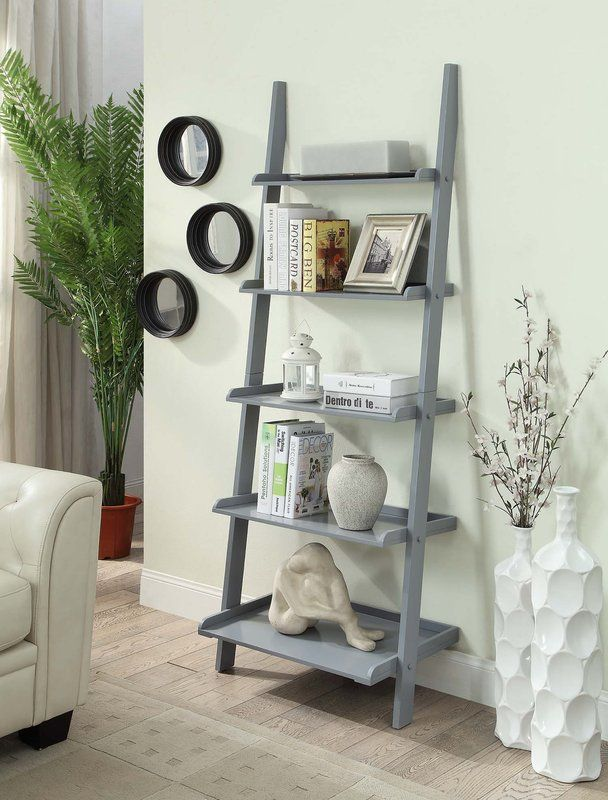 gilliard ladder bookcase home ladder bookshelf ladder bookcase rh pinterest com