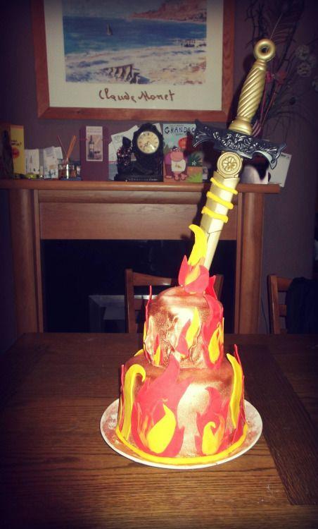 Dark Souls bonfire cake