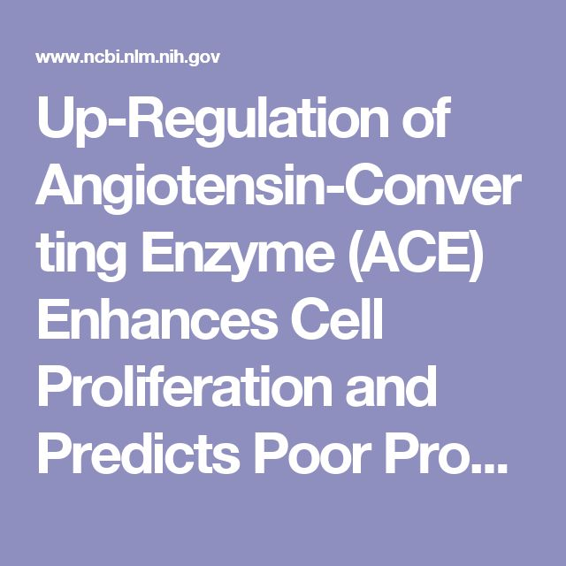 Up-Regulation of Angiotensin-Converting Enzyme (ACE) Enhances Cell Proliferation and Predicts Poor Prognosis in Laryngeal Cancer
