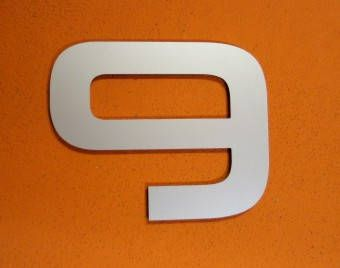 Modern house number aluminum by WellKnownSigns on Etsy